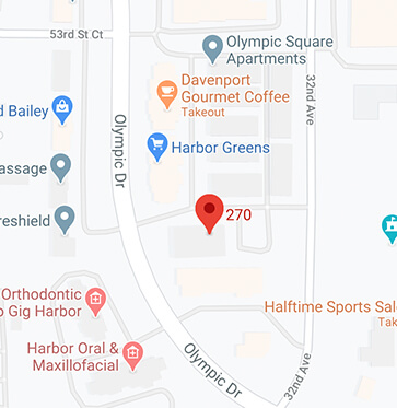 map of Gig Harbor location
